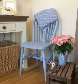 Vintage wooden chair painted in Annie Sloan paint