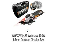 WORX WX427 XL 710W Compact Extreme Versatile Mini Circular Hand Saw Blade NEW