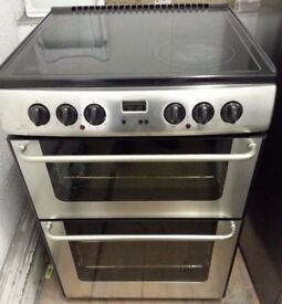 New world 60cm Electric cooker fan oven, Grill, Ceramic Hob