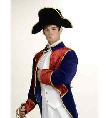 ADULT MENS FRENCH ARMY 18TH CENTURY GENERAL NAPOLEON BONAPARTE COSTUME HAT BLACK](Army Costume Mens)