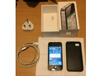 Unlocked Apple iPhone 4S 16GB - With Box and Gel Case - USB cable and charger