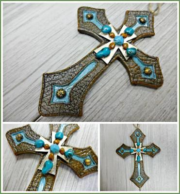 Western Country Rustic Old World Cross Christmas Ornament Decor Gift Collectible ()