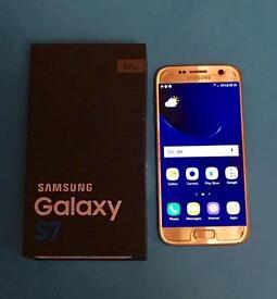 Samsung Galaxy S7 32gb Gold Unlocked Mint