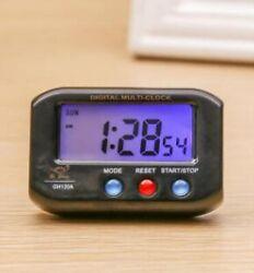 Portable Small Alarm Clock LCD Snooze Backlight Digital Desk Room Car Decor