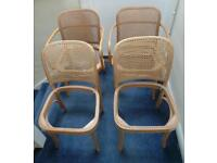 3/5 Prague Hoffmann/Thonet Bentwood Chairs inc. Cane and Tools