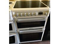 HOTPOINT White 60cm double electric cooker