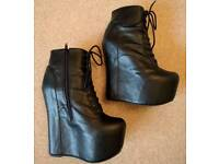 Jeffrey Campbell Damsel boots (Goth, punk rock boots) size 7UK