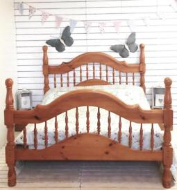 Solid Pine Chunky Kingsize Bed Frame