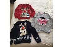 Christmas Jumpers 5-6, 6-7 & 7-8 years £3-£5 each!