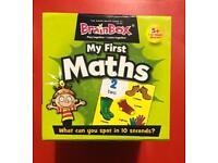 Brand new My first maths game by Brainbox