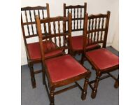 Four Oak Dining Chairs - £50 for the set