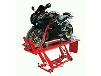 Wanted large motorcycle hydraulic table