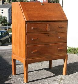 Art Deco Style Light Oak Bureau Chest