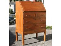 Art Deco Style Light Oak Bureau Chest