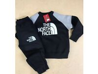 Kids tracksuits. North face, EA7