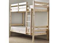 Heavy Duty Bunk Bed. 3ft Single Solid Pine. Very Strong, Can Be Used By Adults
