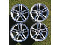 "Audi 8.5x18"" genuine Ronal alloys"