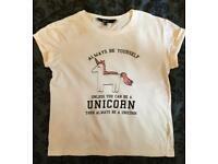 Girls/teens New look age 14-15 unicorn tshirt