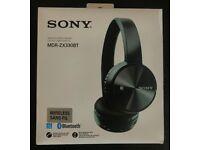 SONY MDR-ZX330BT; BLACK; BLUETOOTH; WIRELESS STEREO HEADSET; BRAND NEW