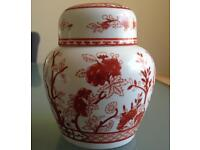 Coalport Indian Tree Coral small ginger jar