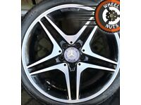 "18"" Genuine AMG Mercedes A Class CLA alloys Golf Caddy Leon excel tyres."