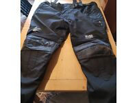 JTS 676 - Mens Waterproof Motorcycle Trousers Large Size 52 reg (31 inch leg )