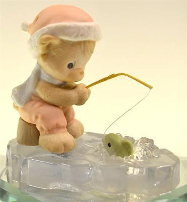 Precious Moments TEDDY BEAR ICE FISHING 455814 NIB