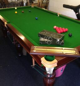 8' x 4' slate-bed snooker table + accessories