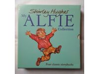 NEW SEALED. MY ALFIE COLLECTION BY SHIRLEY HUGHES. 4 HARDBACK CLASSIC STORYBOOKS. M&S MARKS SPENCER