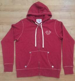 Brand new with tags men's large red True Religion hoodie. RRP £160. Authentic