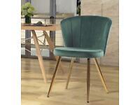 Brand New Green Office Velvet Chair Adjustable Accent Swivel Ergonomic Rotary Lifter Wheels Rotating