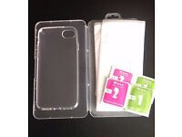 iPhone 7 Clear Case Gel Soft Cover Skin + Tempered Glass Screen Protector