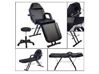 Beauty Salon Chair Balance Message Table Tattoo Facial Couch Bed Couch W/Stool