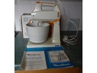 Vintage Moulinex 3 speed Major Mixer complete with box, instructions and recipe book