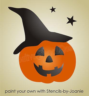 Happy Halloween Pumpkin Stencils (Pumpkin Stencil Halloween Happy Jack O Lantern Witch Hat Stars Country Prim)