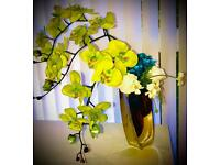 Flower vase and artificial flowers for sale