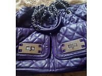 """Purple """" take me with you """" bag in Great condition"""
