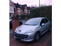 Silver 2007 Peugeot 207 Sport 5DR; MOT till October 2017 - great condition and full service record