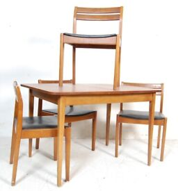 FREE DELIVERY Vintage Mid Century 1960s Teak Extending Dining Table And 4 Chairs Like G Plan Danish