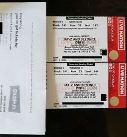 2 JAY-Z AND BEYONCÉ: OTR II London Stadium, FRIDAY 15/06/2018, £225 Per Ticket (Each)