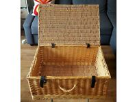 Wicker Chest - perfect for storage or as a fire log basket - £16