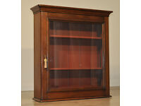 Antique Victorian Mahogany Wall Mountable Shop Bookcase Display Cabinet Bookcase