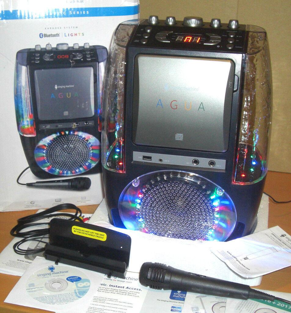 Singing Machine AGUA Dancing Water Karaoke Bluetooth CD+G SML605BK