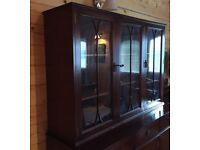 Selection of Mahogany Furniture -2 No. Bookcases, Sideboard, Glass Cabinet & Vintage Dressing Table