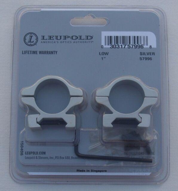 leupold rifleman detachable 1 inch scope rings low silver