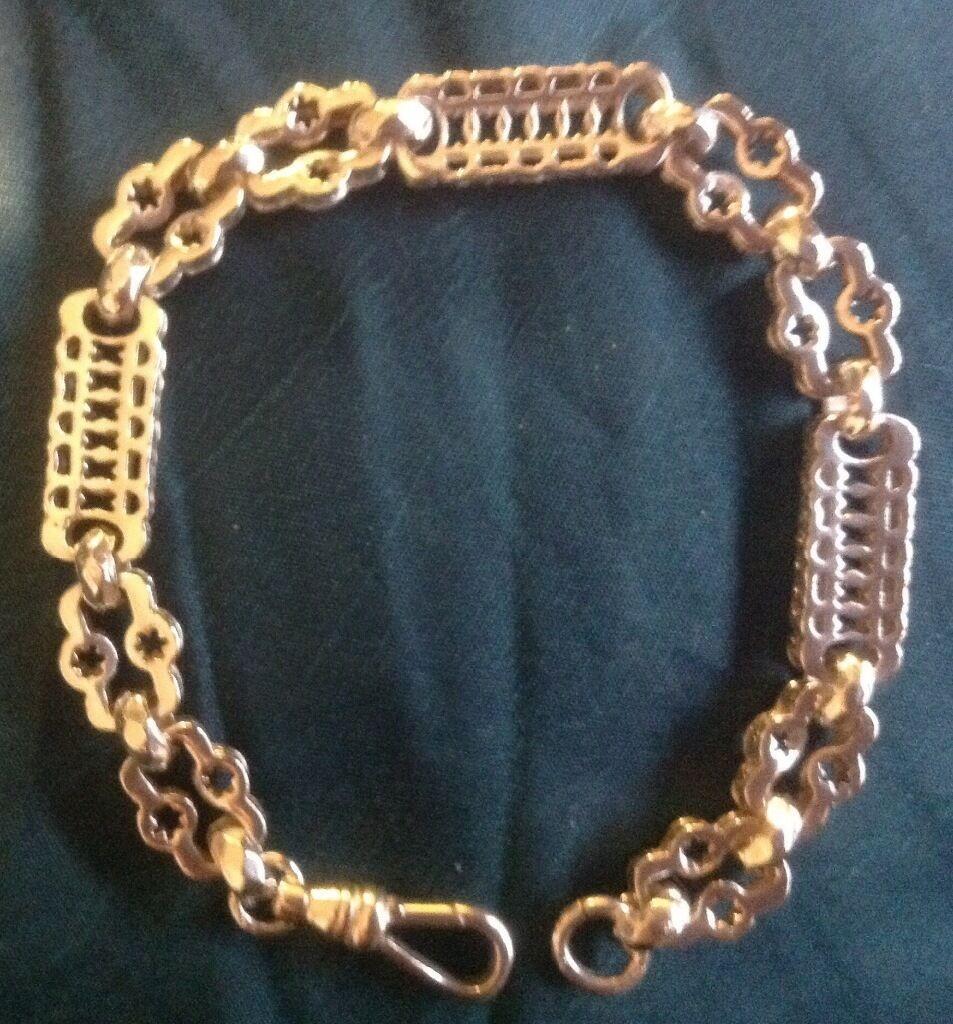 Silver Stars and bars bracelet