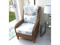 4 Conservatory chairs by DARO with Laura Ashley fabric