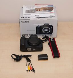 Canon 6D Body - Low Shutter Count - with Charger, Strap, Battery, Cables, Original Box