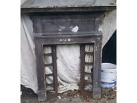 Cast Iron Fire Place with space for tiles