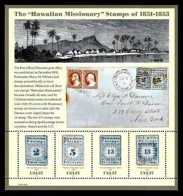 "1¢ WONDER'S ~ 2001 MNH SOUVENIR SHEET W/ ""THE HAWAIIAN MISSIONARY STAMPS"" ~ S931"